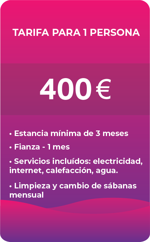 tarifas por mes